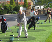 Golf training session in Wentworth
